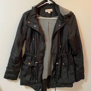 Merona black rain jacket